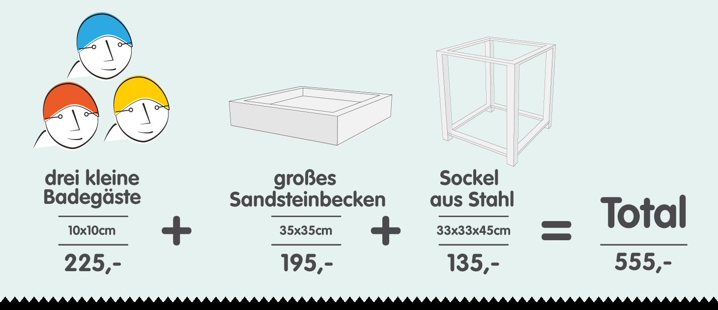 Preise der Skulpturen aus Sandstein die Schwimmer im Wasserbecken auf Sockel für Haus und Garten